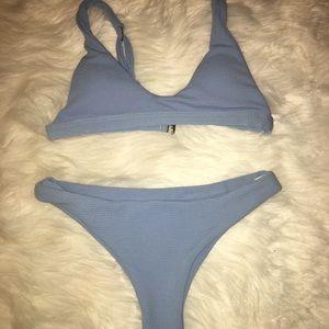 Zaful blue bikini